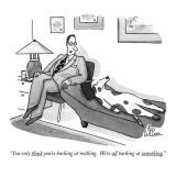 """You only think you're barking at nothing.  We're all barking at something…"" - New Yorker Cartoon Premium Giclee Print by Leo Cullum"