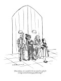 """""""And, please, sir, would it be too much to ask for a large and devoted gay…"""" - New Yorker Cartoon Premium Giclee Print by Nick Downes"""