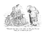 """Howard may have a few miles on him, but I'm not ready for a trade-in just…"" - New Yorker Cartoon Premium Giclee Print by Edward Koren"