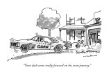 &quot;Your dad seems really focussed on his own journey.&quot; - New Yorker Cartoon Premium Giclee Print by Michael Crawford