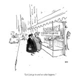 """Let's just go in and see what happens."" - New Yorker Cartoon Premium Giclee Print by George Booth"