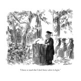 """I know so much that I don't know where to begin."" - New Yorker Cartoon Premium Giclee Print by James Stevenson"