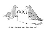 """""""I like a Gershwin tune.  How about you?"""" - New Yorker Cartoon Premium Giclee Print by Mischa Richter"""