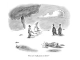 """""""You were really great out there!"""" - New Yorker Cartoon Premium Giclee Print by Frank Cotham"""