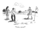 """Tennis, anyone?"" - New Yorker Cartoon Premium Giclee Print by Joseph Farris"