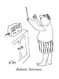 Andante Sostenuto - New Yorker Cartoon Premium Giclee Print by William Steig