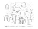 """Silly man, that wasn't an affair—I was just riffing on our marriage."" - New Yorker Cartoon Premium Giclee Print by Robert Mankoff"