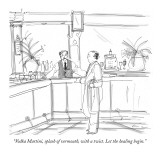 """Vodka Martini, splash of vermouth, with a twist. Let the healing begin."" - New Yorker Cartoon Premium Giclee Print by Richard Cline"