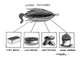 Corn Furures - New Yorker Cartoon Premium Giclee Print by Henry Martin