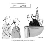 """Does your client wish to plead 'sweet' or 'lame'?"" - New Yorker Cartoon Premium Giclee Print by Joe Dator"