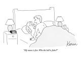 """My name is Jon. Who the hell is John?"" - New Yorker Cartoon Premium Giclee Print by Karen Sneider"