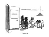 """Curiosity."" - New Yorker Cartoon Premium Giclee Print by James Stevenson"