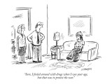 """Sure, I fooled around with drugs when I was your age, but that was to pro…"" - New Yorker Cartoon Premium Giclee Print by David Sipress"