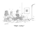 """Muffie's shedding."" - New Yorker Cartoon Premium Giclee Print by Mick Stevens"