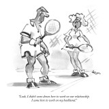 """Look, I didn't come down here to work on our relationship. I came here to…"" - New Yorker Cartoon Premium Giclee Print by Lee Lorenz"