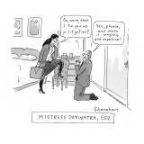 Mistress Dominatra, Esq. - New Yorker Cartoon Premium Giclee Print by Danny Shanahan
