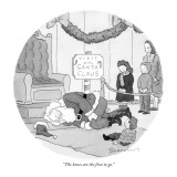 """The knees are the first to go."" - New Yorker Cartoon Premium Giclee Print by Danny Shanahan"