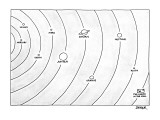 Picure of the solar system in which various planets appear including Satur… - New Yorker Cartoon Premium Giclee Print by Jack Ziegler