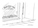 Restaurant named, 'Bad for You a Restaurant.'  - New Yorker Cartoon Premium Giclee Print by Mick Stevens