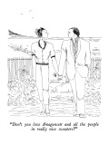 """Don't you love Amagansett and all the people in really nice sweaters?"" - New Yorker Cartoon Premium Giclee Print by Richard Cline"
