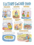 """""""Factory Second Food"""" - New Yorker Cartoon Premium Giclee Print by Roz Chast"""