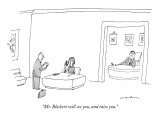 """Mr. Blockert will see you, and raise you."" - New Yorker Cartoon Premium Giclee Print by Michael Maslin"