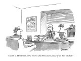 """Damn it, Henderson, New York is still three hours ahead of us. Get on tha…"" - New Yorker Cartoon Premium Giclee Print by Jack Ziegler"