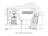 """""""Sorry.  We're strictly store-goers."""" - New Yorker Cartoon Premium Giclee Print by Jack Ziegler"""