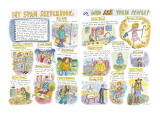 My Spam Sketchbook, or, Who are These People? - New Yorker Cartoon Premium Giclee Print by Roz Chast