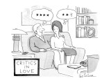 Critics In Love - New Yorker Cartoon Premium Giclee Print by Leo Cullum