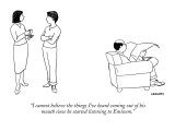 """I cannot believe the things I've heard coming out of his mouth since he s…"" - New Yorker Cartoon Premium Giclee Print by Alex Gregory"