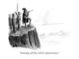 """Someday, all this will be infrastructure."" - New Yorker Cartoon Premium Giclee Print by Warren Miller"