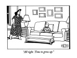 """All right. Time to grow up."" - New Yorker Cartoon Premium Giclee Print by Bruce Eric Kaplan"