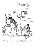 """""""This time of year, with the office parties and the family visits, and hav…"""" - New Yorker Cartoon Premium Giclee Print by Sidney Harris"""