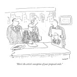 """""""Here's the artist's conception of your proposed smile."""" - New Yorker Cartoon Premium Giclee Print by Robert Mankoff"""