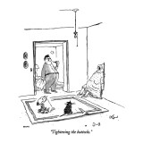 """Tightening the buttocks."" - New Yorker Cartoon Premium Giclee Print by George Booth"