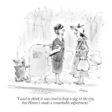 """""""I used to think it was cruel to keep a dog in the city, but Homer's made …"""" - New Yorker Cartoon Premium Giclee Print by Lee Lorenz"""
