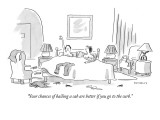 """""""Your chances of hailing a cab are better if you go to the curb."""" - New Yorker Cartoon Premium Giclee Print by Liza Donnelly"""