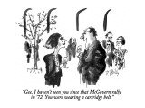 """Gee, I haven't seen you since that McGovern rally in '72. You were wearin…"" - New Yorker Cartoon Premium Giclee Print by Donald Reilly"