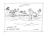 Incident off the Spanish coast - New Yorker Cartoon Premium Giclee Print by Al Ross