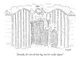 """""""Actually, he's not all that big, but he's really ripped."""" - New Yorker Cartoon Premium Giclee Print by Robert Mankoff"""