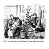 """On the other hand, the examined life doesn't seem to produce much income.…"" - New Yorker Cartoon Premium Giclee Print by Edward Sorel"