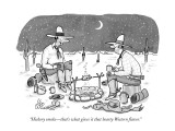 """""""Hickory smoke—that's what gives it that hearty Western flavor."""" - New Yorker Cartoon Premium Giclee Print by Leo Cullum"""