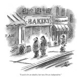 """""""I used to be an idealist, but now I'm an independent."""" - New Yorker Cartoon Premium Giclee Print by Frank Cotham"""