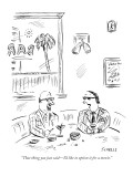 """""""That thing you just said—I'd like to option it for a movie."""" - New Yorker Cartoon Premium Giclee Print by David Sipress"""