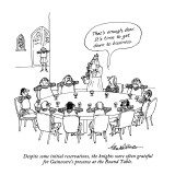 Despite some initial reservations, the knights were often grateful for Gui… - New Yorker Cartoon Premium Giclee Print by J.B. Handelsman
