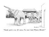 """Sounds good to me.  Of course, I've never heard Wynton Marsalis."" - New Yorker Cartoon Premium Giclee Print by J.B. Handelsman"
