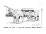 """Sounds good to me.  Of course, I've never heard Wynton Marsalis."" - New Yorker Cartoon Premium Giclee Print by J.B. Handelsman"