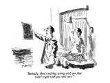 """Basically, there's nothing wrong with you that what's right with you can'…"" - New Yorker Cartoon Premium Giclee Print by Donald Reilly"