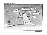 Lone Wolf - New Yorker Cartoon Premium Giclee Print by Charles Barsotti